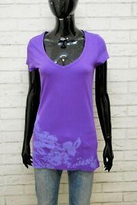 Maglia-Viola-Donna-TOMMY-HILFIGER-Maglietta-Taglia-S-Polo-Shirt-Woman-Camicia