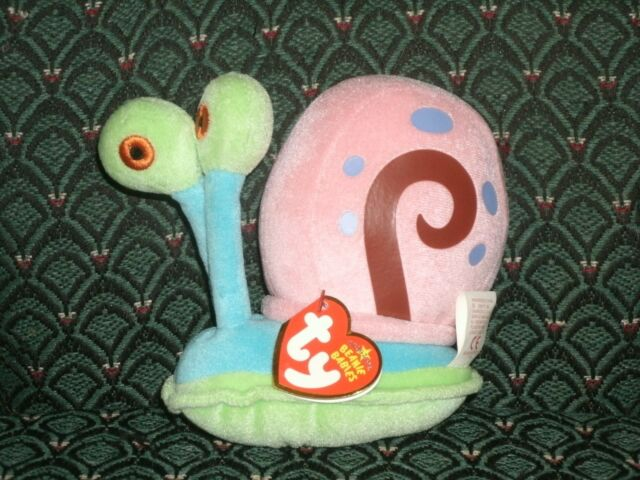4d6ba39be9e Ty Beanie Babies Gary The Snail Plush Spongebob Squidward 2011 P59 ...
