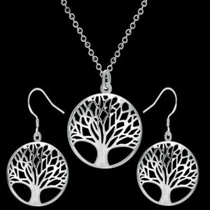 925-STAMPED-STERLING-SILVER-TREE-OF-LIFE-PENDENT-NECKLACE-EARRING-SET-GIFT-BAG