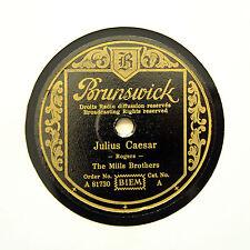 "THE MILLS BROTHERS ""Julius Caesar"" (EE+) GERMAN BRUNSWICK A-81730 [78 RPM]"