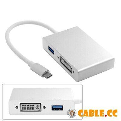 CableDeconn Thunderbolt 3 Adapter USB Type-C to 4K HDMI DVI VGA HUB Multipo Z7B6