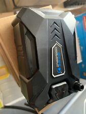 Y-H Notebook Computer Exhaust Type Radiator USB Blue Light Mini Side Suction Radiator 5V Glare Web Version