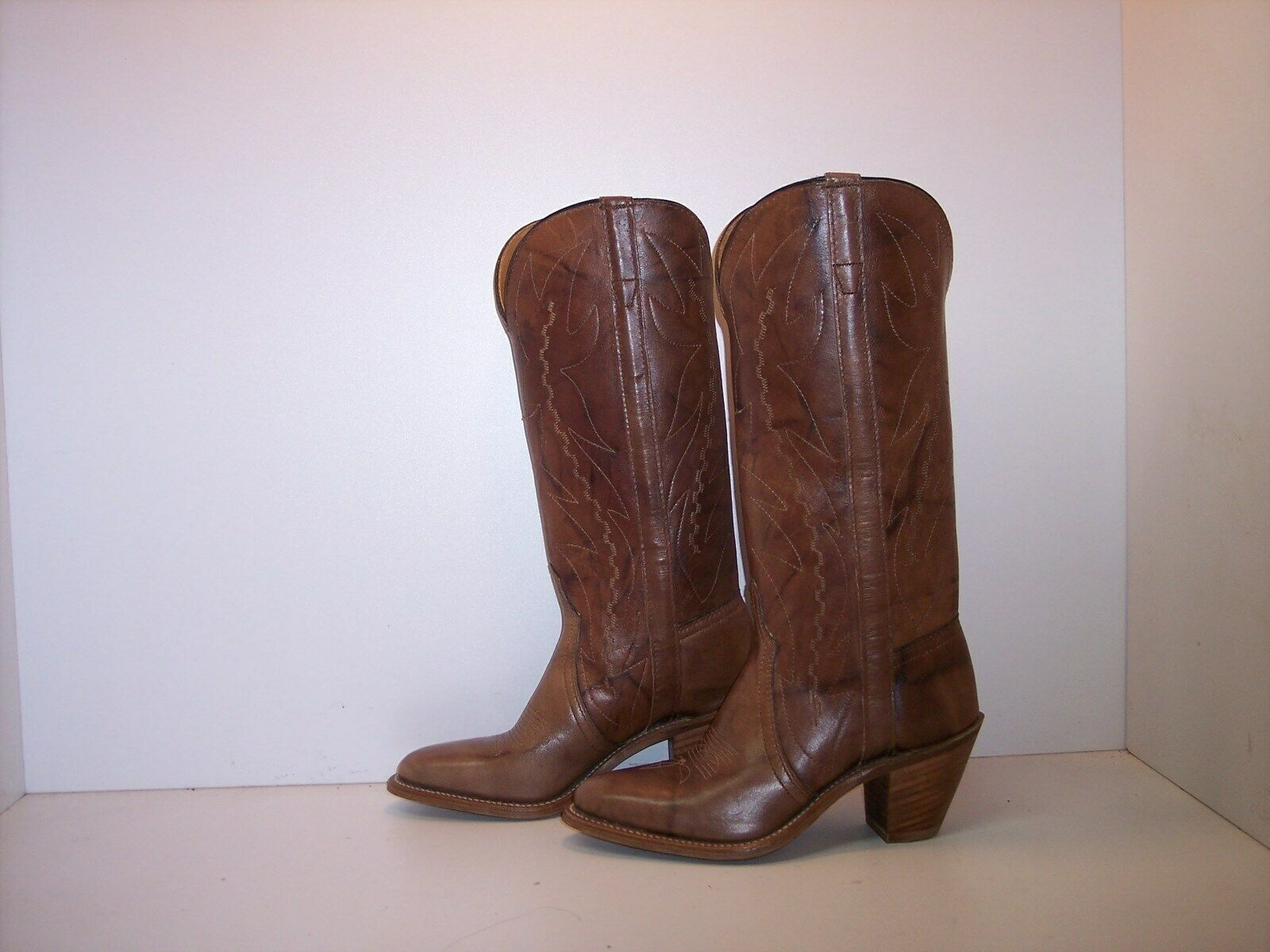 DURANGO Brown Leather Western Boots Women's Size 7  Youth 5.5