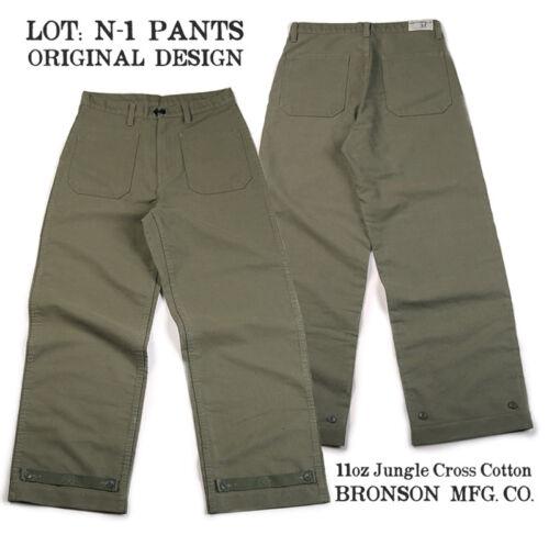 Bronson 11oz Jungle Cross N-1 Deck Pants Loose Fit USN Military Men/'s Trousers