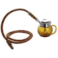 """5"""" MYA Coppa 1 Hose Mini Hookah Pipe Set Amber"""