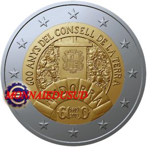 2-Euro-Commemorative-Andorre-2019-Conseil-de-la-Terre-NEUVE