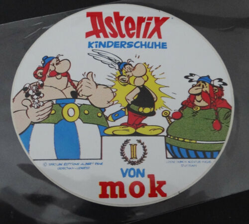 Aufkleber Asterix Kinderschuhe vin mok 80er Jahre Sticker Autocollant