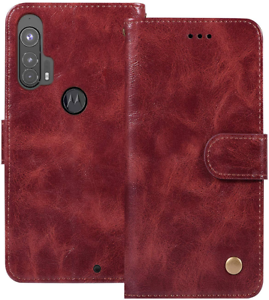Motorola Edge Plus Pu Leather Wallet Case Moto Edge+ Cover Folio Flip Kickstand