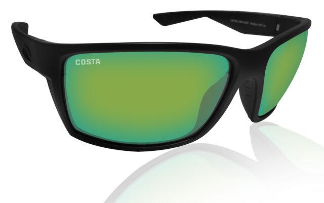 Blackout Costa Del Mar Fantail Sunglasses Green Mirror 580 Plastic Lens