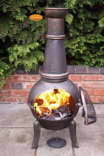 Granada Extra-Large chimenea 124cm garden patio heater fire woodburner cast iron