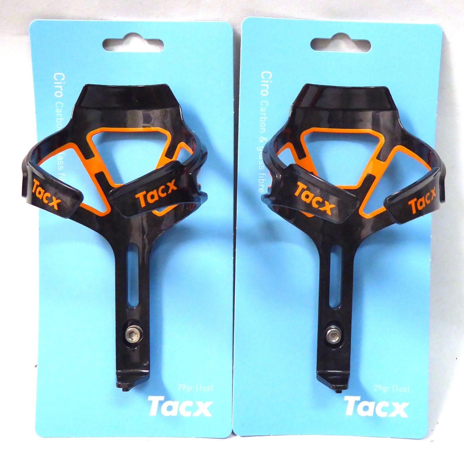 Tacx Ciro Carbone Bouteille D'Eau Support Orange Orange Orange Paire 9d008f