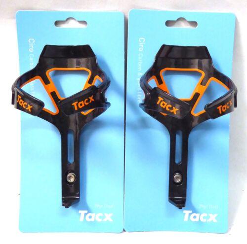 Tacx Ciro Carbon Water Bottle Cages Orange Pair