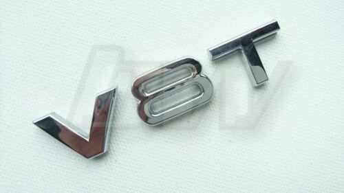 Placa de metal lado V8T trajes diversos Marques Auto adhesivo de respaldo