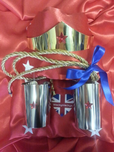 wonder woman cuffs AND Tiara Lasoo ......Hand crafted Polished brass or steel