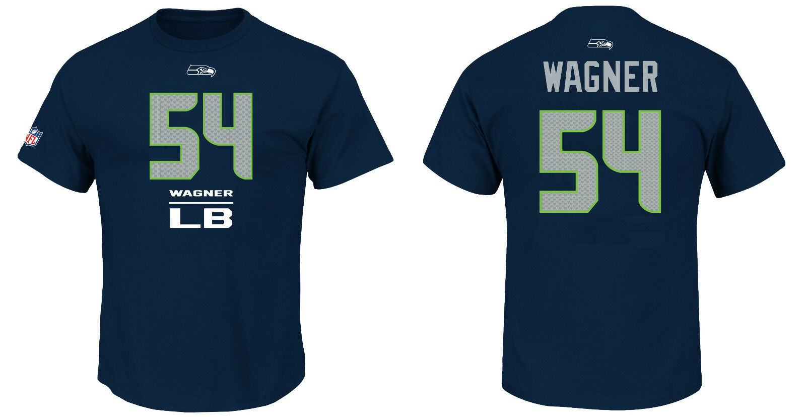 NFL FOOTBALL T-shirt Seattle Seahawks Bobby Wagner 54 LB Line Up Maglia Jersey