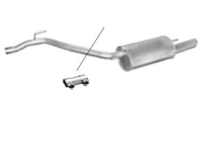 Endschalldämpfer Endtopf Auspuff hinten Transporter IV T4 Benzin 2,0 2,5 2,8 VR6