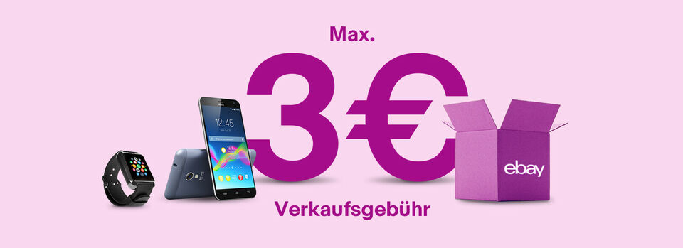 Verkaufsaktion: max. 3€ Gebühr – Jetzt freischalten - Verkaufsaktion: max. 3€ Gebühr*