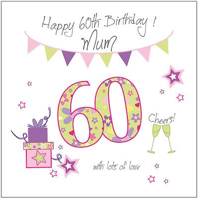 Personalised 60th Birthday Card Mum Gran Grandma Nan Nana Nanny