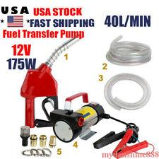 Electric Oil Fuel Transfer Pump Diesel Biodiesel Kerosene Dc 12v 175w Nozzle