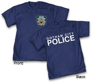 DC-GCPD-GOTHAM-CITY-POLICE-DEPARTMENT-NAVY-Adult-T-Shirt-Batman-S-2XL
