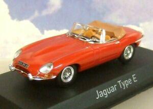 Norev 1/43 miniatures 1961 Jaguar type E Cabrio Cabriolet Cabriolet Rouge 270062 3551092700622