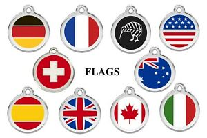 DOG-CAT-TAGS-NATIONAL-FLAGS-FULLY-ENGRAVED-amp-GUARANTEED-FOR-LIFE