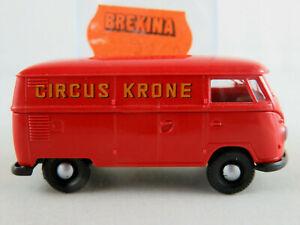 Brekina-3260-VW-Camionnette-t1b-1959-034-Circus-Krone-034-en-rouge-1-87-h0-Nouveau-Neuf-dans-sa