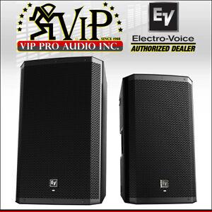 2x electro voice ev zlx 15bt active dj pa speaker w bluetooth 1000w amplified 800549882057 ebay. Black Bedroom Furniture Sets. Home Design Ideas