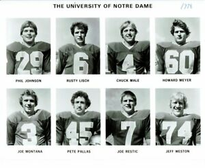 Joe-Montana-UnSigned-8x10-University-of-Notre-Dame-1978-Photo-Team-picture-49ers