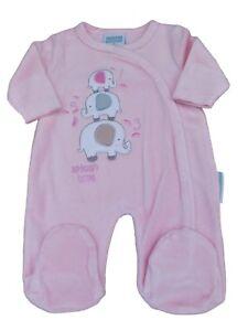 c6f45420f BNWT Tiny baby Premature Preemie 3 elephant soft velour sleepsuit in ...