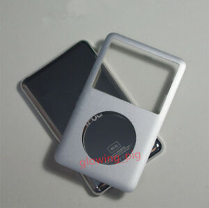 034-NEW-034-Silver-iPod-Classic-80-120-160GB-Back-Cover-Front-Case-Replacement-Kit