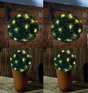 27-cm-Vert-Double-Fonction-a-energie-Solaire-Topiaire-Jardin-Boule-Sphere-20-Lumieres-DEL