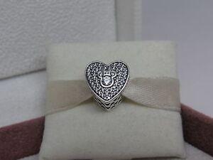 New W/Box Pandora Disney Mickey & Minnie Sparkling Heart W/ Cz's Charm 792049 Cz by Pandora