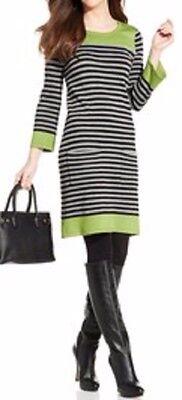 Jessica Howard Dress Sz XL Multi Color Striped 3/4 Sleeve Casual Sweater Dress