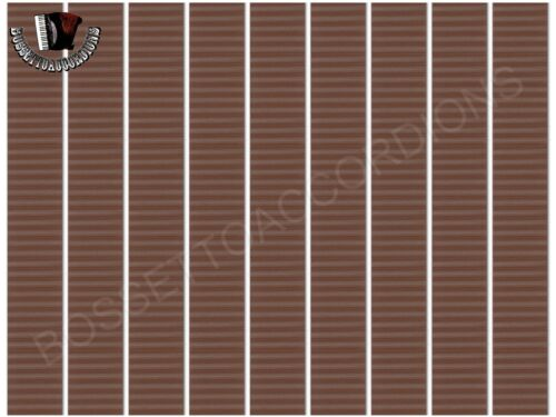 350 inches Accordion BELLOWS TAPE BROWN WITH STRIPES Roll 24mm x 8.89m