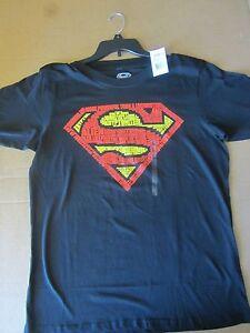 e38c58f262e DC Comics Superman Man Of Steel Word Collage Logo Men s T-Shirt ...