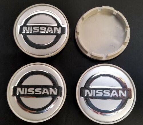 NISSAN 4 Stk x55mm Nabenkappen Aluminium Logo Radkappen Nabendeckel Kappen Emble