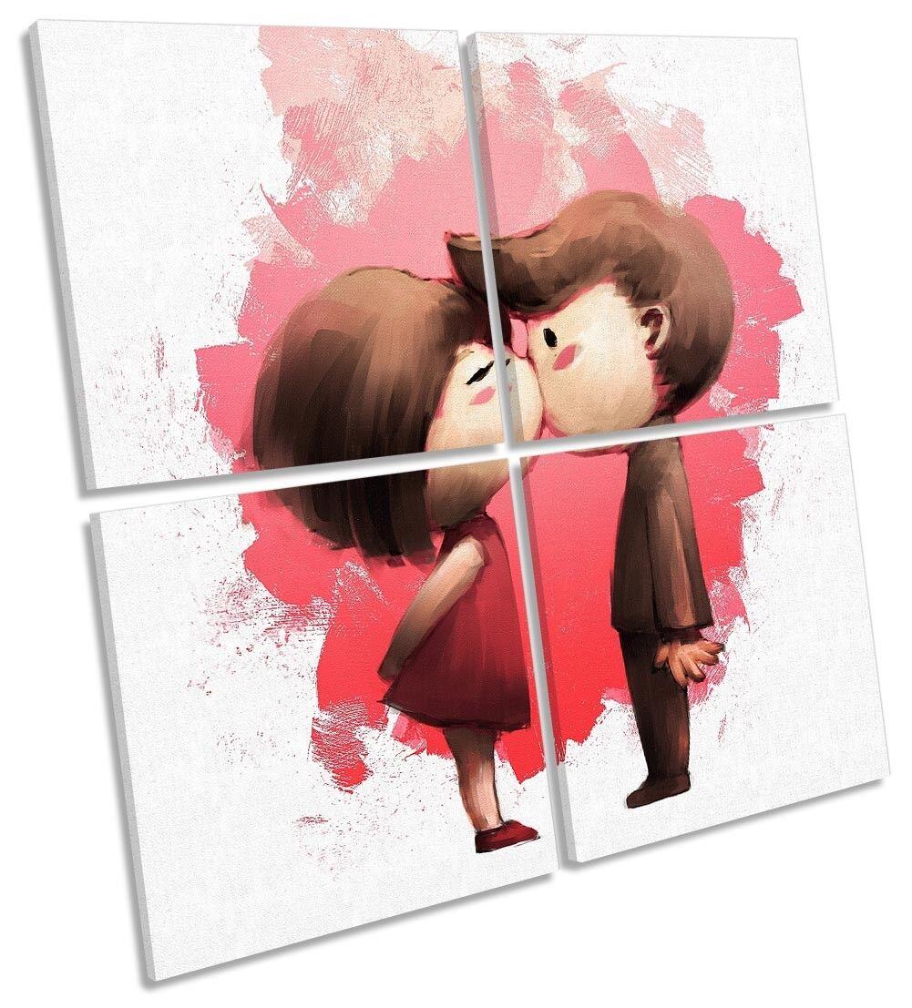 Amor Corazón Beso  rojo Rojo  Lona Pa rojo   obras de arte de San Valentín Multi Plaza De Arte 9832f9