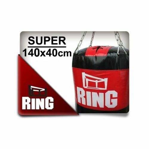 Ring Sport Profi Boxsack  ohne Füllung  140x40 cm Schwarz Rot