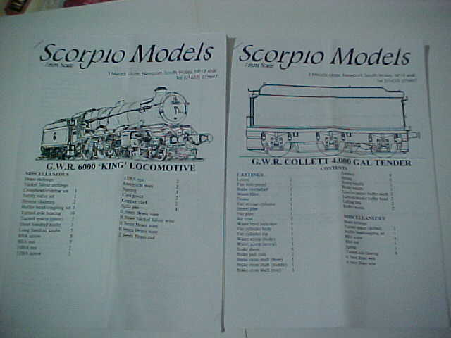Scorpio GWR GWR GWR KING Locomotive Kit 57bbfb