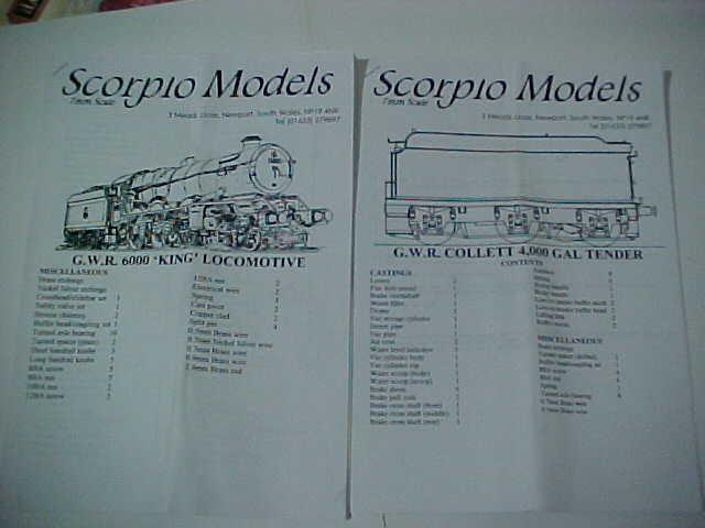 Scorpio GWR GWR GWR KING Locomotive Kit 0990a6