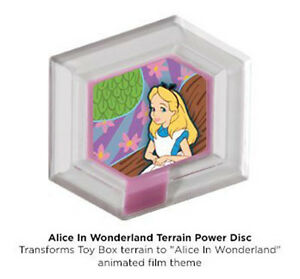 disney infinity alice in wonderland terrain power disc