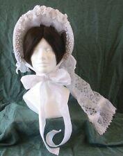 Stunning! Civil War Era Reproduction Lady's Wedding Bonnet, Perfect Victorian!