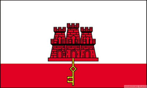 """GIBRALTAR 18/"""" x 12/"""" FLAG suitable for Boats Caravans Treehouses flags"""