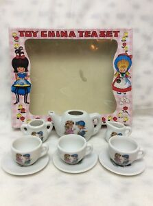 vintage japan boy girl toy china tea set childrens ceramic ebay. Black Bedroom Furniture Sets. Home Design Ideas