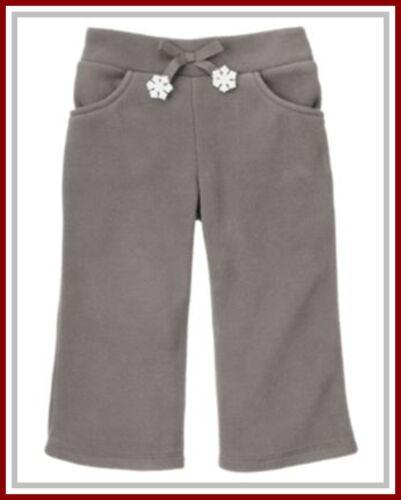 NWT Gymboree 2T 3T Gray Fleece Winter Pants Snowflake White Bunny Shirt Hoodie