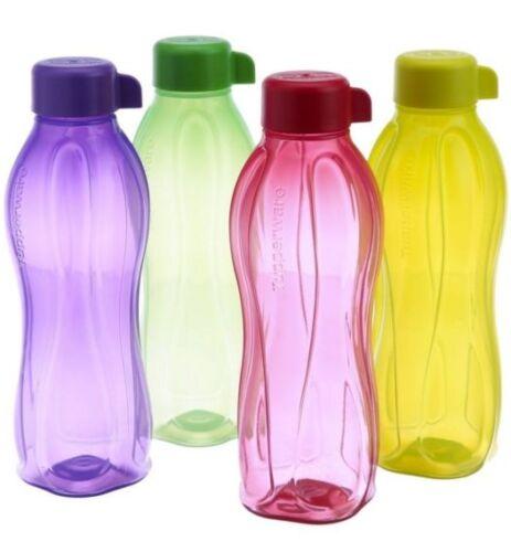 Tupperware 1000 ML Screw Top Water Bottles Set of 4 Green//Yellow//Purple//Red New