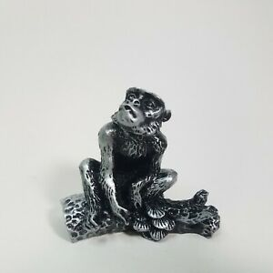 3-034-Year-Of-The-Monkey-Silver-Resin-Chinese-Zodiac-Lunar-Animal-Statue