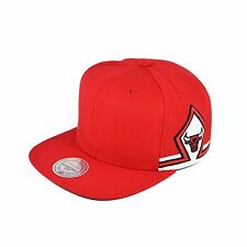 NEW Mitchell & Ness CHICAGO BULLS Blank Front Snapback Hat Cap