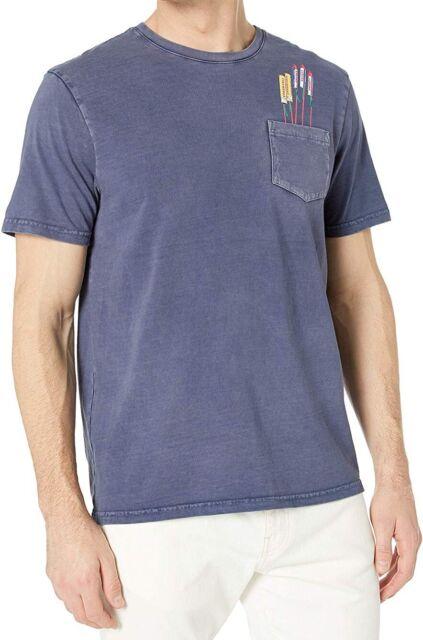 Lucky Brand Mens T-Shirt Blue Size Medium M Graphic Tee Firework Print $39 #253